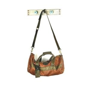 VTG Colombian Bags Co Brown Leather Duffel Bag
